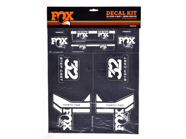 Fox Racing Shox AM Step-Cast Decal Kit white/grey